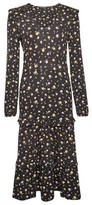 Dorothy Perkins Womens Multi Colour Ditsy Print Ruffle Tiered Midi Dress