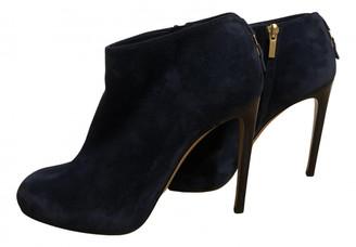 Salvatore Ferragamo Blue Suede Ankle boots