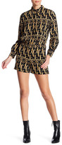 Love Moschino Logo Print Playsuit