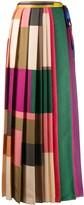 Pierre Louis Mascia patchwork pleated skirt