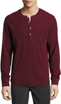 7 For All Mankind Thermal Henley T-Shirt, Chianti