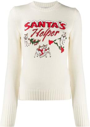 Philosophy di Lorenzo Serafini Santa's Helper print jumper