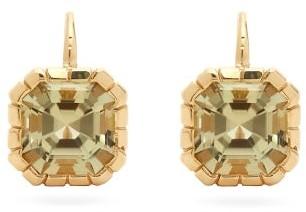 Retrouvaí Tourmaline & 14kt Gold Drop Earrings - Yellow Gold
