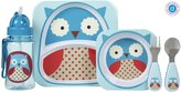 Skip Hop Zoo Feeding Set - Owl - 5 ct