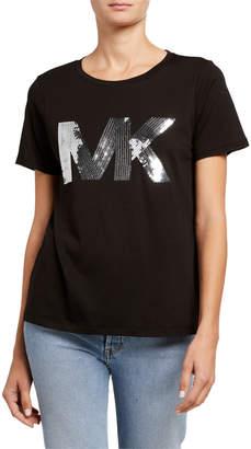 MICHAEL Michael Kors Sequin Logo Short Sleeve T-Shirt