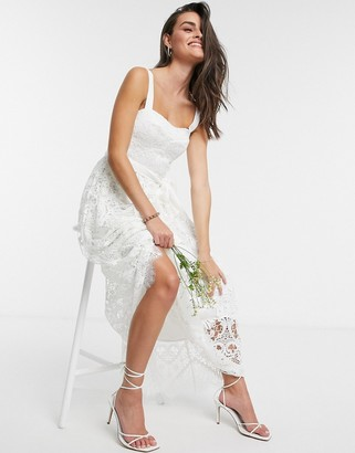French Connection Sleeveless Bridesmaid Dress in Summer White