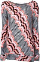 Missoni zigzag pattern knitted blouse