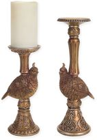 Melrose Partridge Candle Holders in Gold (Set of 2)