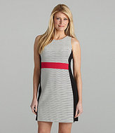 AK Anne Klein Striped Colorblock Dress