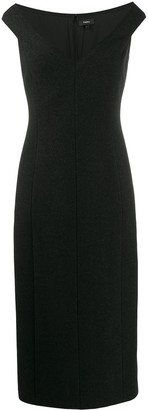 Theory sleeveless midi dress