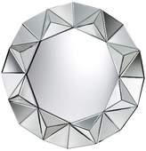 Lazy Susan Round Decorative Wall Mirror Silver