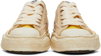 Miharayasuhiro Yellow Over-Dyed OG Sole Peterson Sneakers