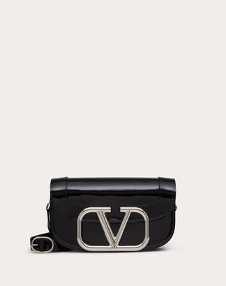 Valentino Supervee Patent Crossbody Bag Women Black 100% Pelle Di Vitello - Bos Taurus OneSize