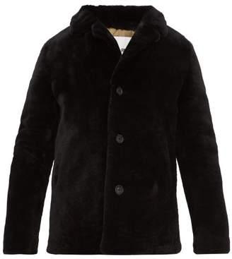 Yves Salomon Shearling Coat - Mens - Black