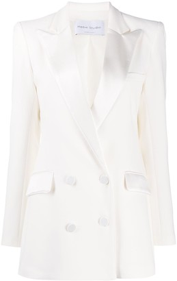 Hebe Studio Double-Breasted Notched Lapel Blazer