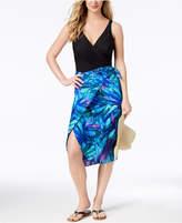 Miraclesuit Flamenco Palm-Print Side-Tie Pareo Wrap