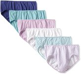 Fruit of the Loom Women's 6 Pack Comfort Covered Waistband Hi-Cut Panties
