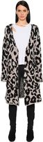 Amiri Leopard Merino Wool Knit Long Cardigan