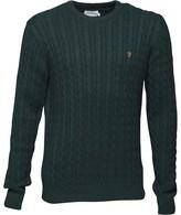 Farah Mens Lewes Sweater Cilantro Marl
