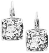 Kate Spade Small Square Glitter Leverback Earrings
