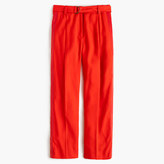 J.Crew Cropped wide-leg trouser with tux stripe