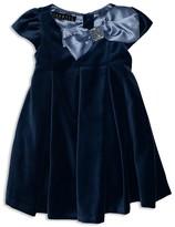 Biscotti Infant Girls' Satin Trimmed Velvet Dress - Baby