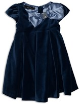 Biscotti Infant Girls' Satin Trimmed Velvet Dress - Sizes 12-24 Months