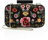 Alice + Olivia Large Bohemian Embroidered Leather Clutch
