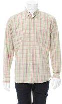 Burberry Madras Plaid Button-Up Shirt
