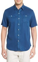 Tommy Bahama Men's 'New Twilly' Island Modern Fit Short Sleeve Twill Shirt