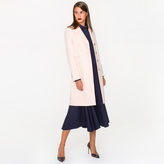 Paul Smith Women's Pale Pink Wool-Cashmere Epsom Coat
