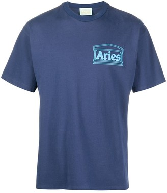 Aries crew neck logo print T-shirt