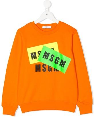 Msgm Kids Logo-Print Sweater