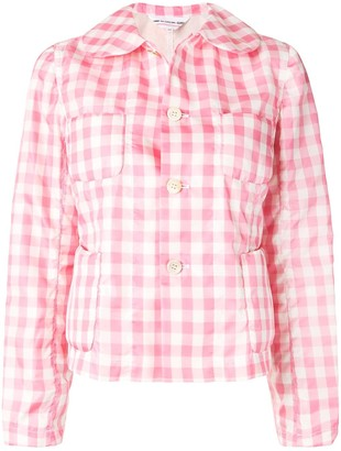 COMME DES GARÇONS GIRL Gingham Checked Fitted Jacket