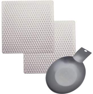 Range Kleen 2-Pack Silverwave Hot Pads, Stainless Spoon Rest