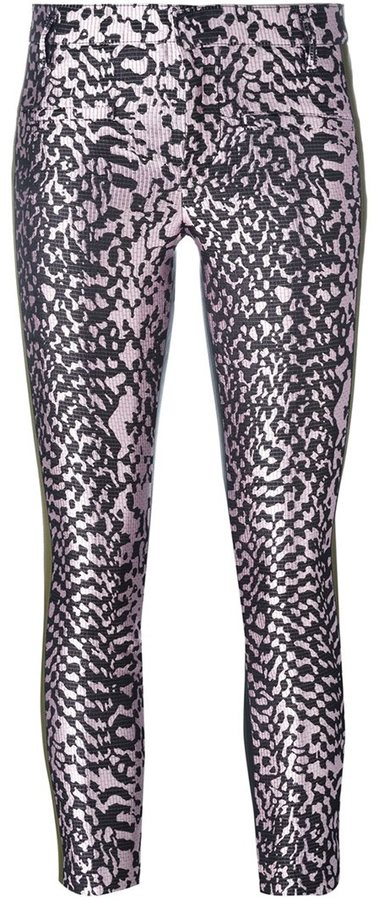 Haider Ackermann metallic cropped skinny trousers