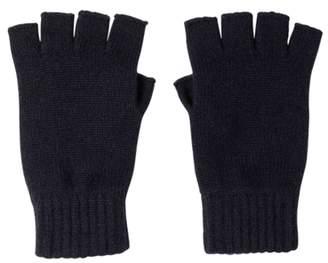 Johnstons of Elgin Navy Fingerless Cashmere Gloves