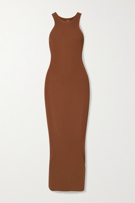 Totême Espera Ribbed-knit Maxi Dress - Brown