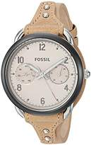Fossil Women's ES4175 Tailor Multifunction Tan Leather Watch