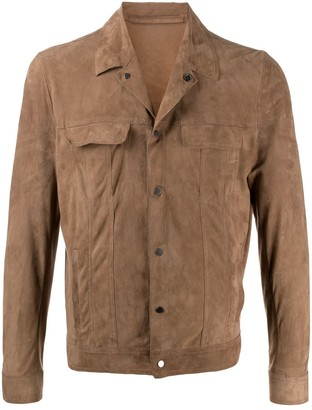 Salvatore Santoro Leather Short Shirt Jacket