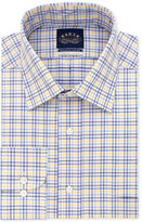 Eagle Men's Classic/Regular Fit Flex Collar Yellow Check Dress Shirt