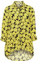 Studio Plus Size Floral print chiffon blouse