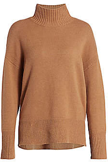 Frame Women's High-Low Cashmere Turtleneck Sweater