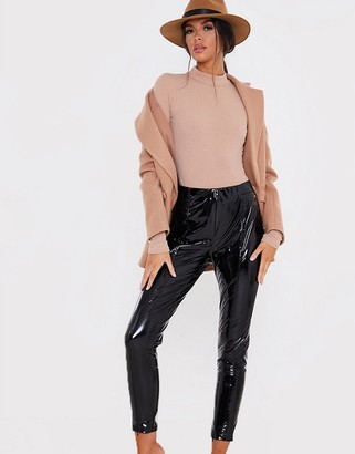 In The Style x Lorna Luxe vinyl leggings in black