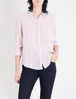 Rails Sydney striped linen-blend shirt