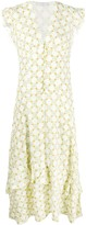 Sandro Paris ruffled floral print dress