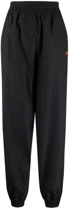 Marcelo Burlon County of Milan County side zip track pants