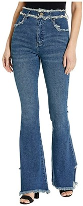 Show Me Your Mumu Austin High-Waist Flares in Lakefront (Lakefront) Women's Jeans