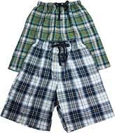 Hanes Mens 2 Pack Cotton Blend Woven Drawstring Lounge Pajama Sleep Short