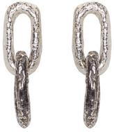 Pearls Before Swine Silver Double Link Earrings